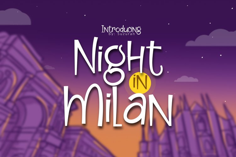 Night in Milan example image 1