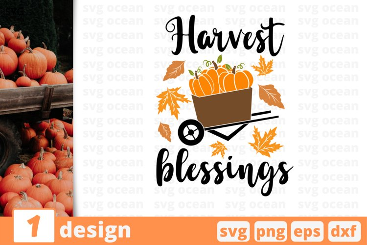 Harvest Blessings | Thanksgiving Day Svg Cut File