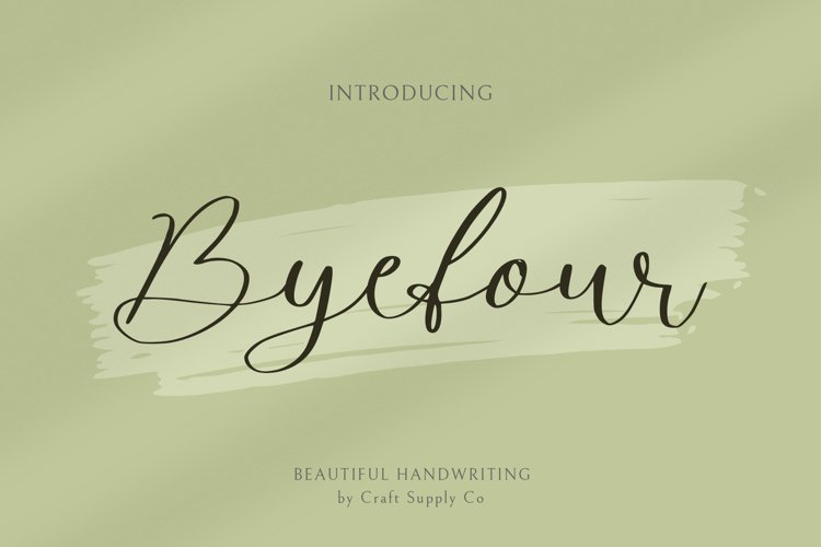 Byefour - Beautiful Script example image 1