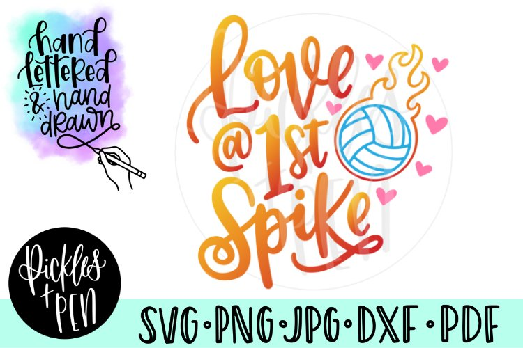 Love At First Spike - Volleyball SVG