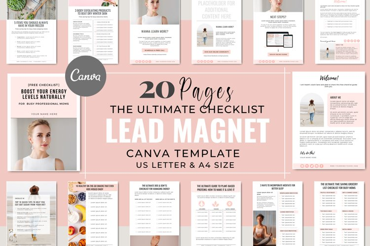 Checklist Lead Magnet Template for Coaches | Canva Templates