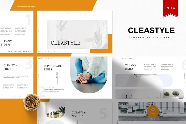 Cleastyle | Powerpoint Template example image 1