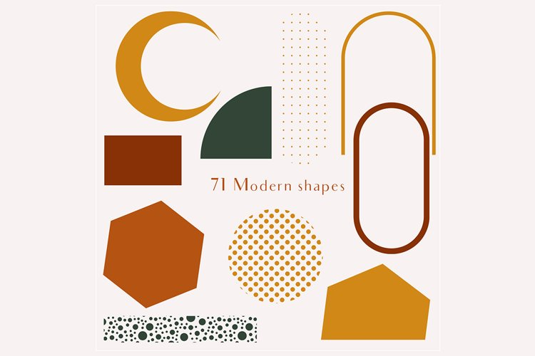 71 Modern shapes clipart illustrations example 9
