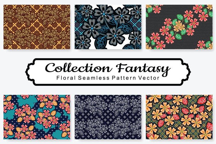 Set Of Fantasy Floral Vector Pattern Vol.15 example image 1
