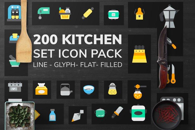 200 Kitchen Icon Pack