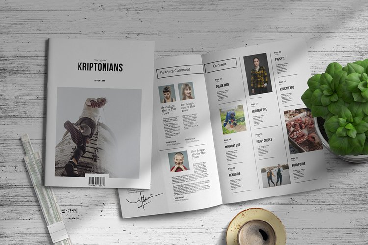 Kriptonians | Magazine Template