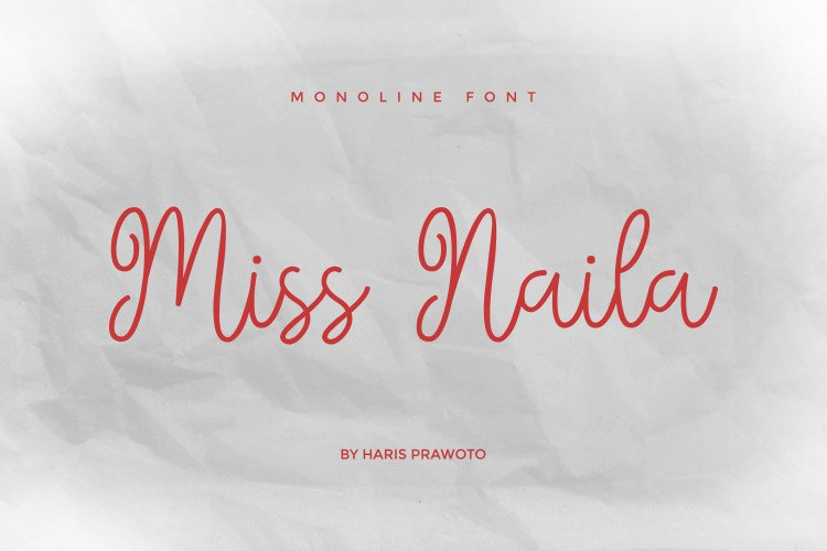 Miss Naila- Lovely Modern Calligraphy example image 1