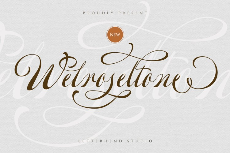 Welroseltone - Unique Script Font example image 1