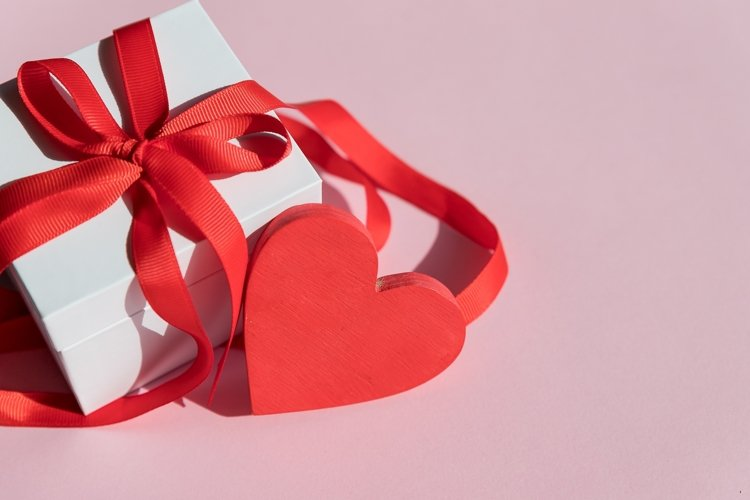 gift box and red heart example image 1