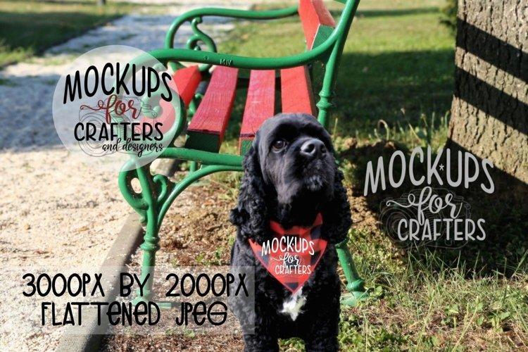 MOCK-UP - Dog Bandana, Red & Black Buffalo Plaid