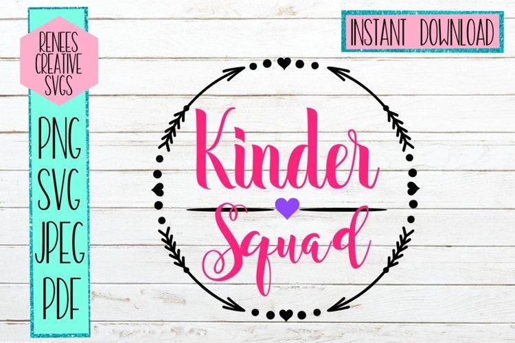 Kinder Squad SVG   Back to school SVG   SVG Cut File example image 1