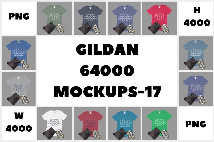 MEGA BUNDLE Gildan 64000 Adult T-Shirt Mockups - 17 example image 1