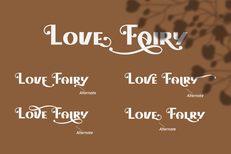 Love Fairy - Modern Display Font example 1