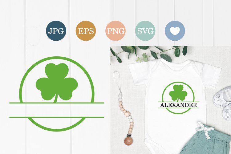 Shamrock SVG clovers silhouette cut file, St. Patrick's Day example image 1