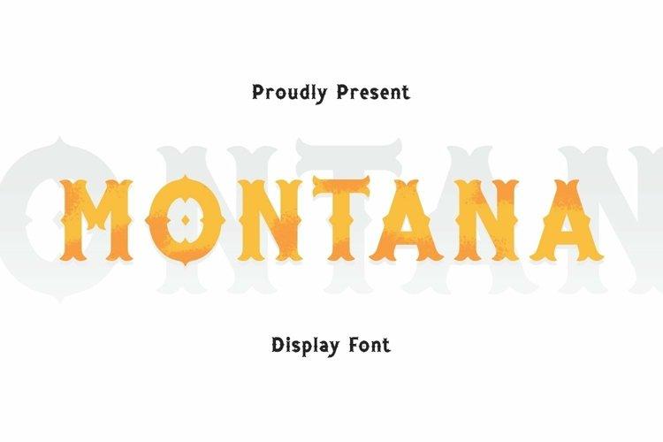 Web Font Montana Font example image 1