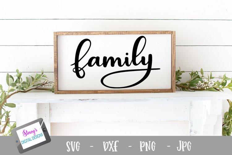 Family SVG - handlettered cut file design