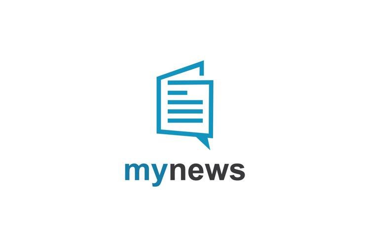 talk newspaper logo example image 1