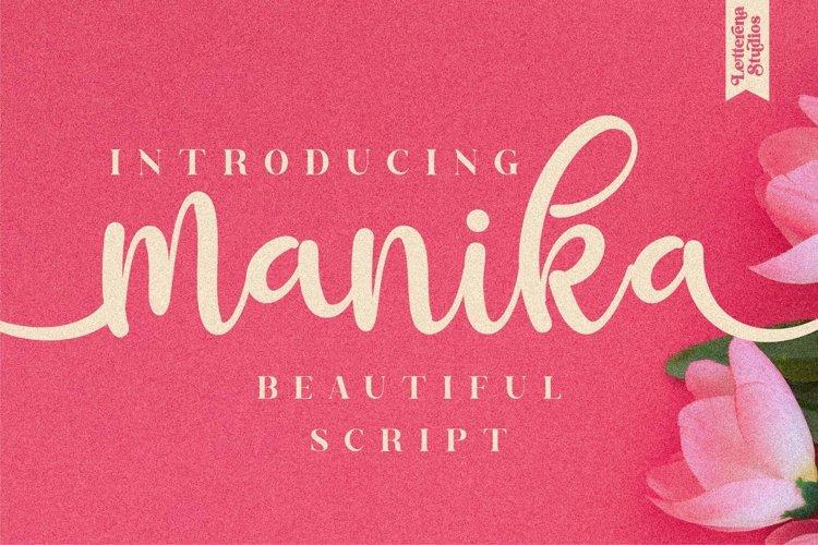 manika - Beautiful Script Font example image 1