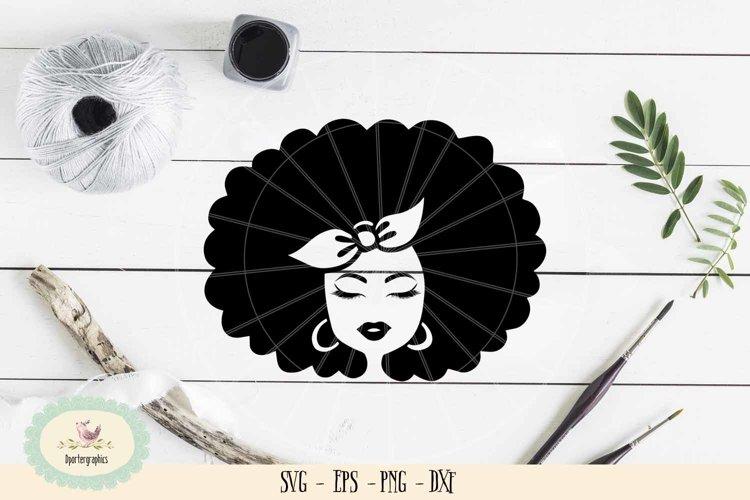 Afro girl bandana SVG PNG curly hair girl