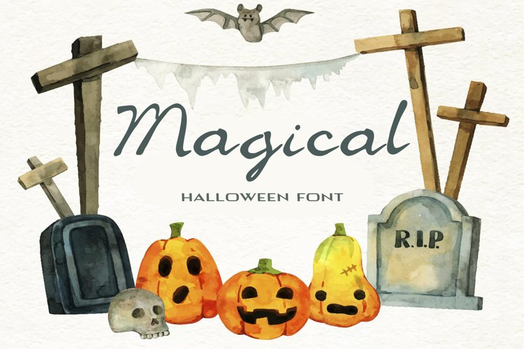 Magical Halloween Font example image 1