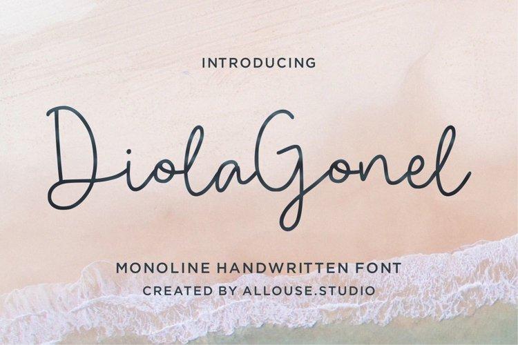 Diola Gonel - Monoline Handwritten Font example image 1