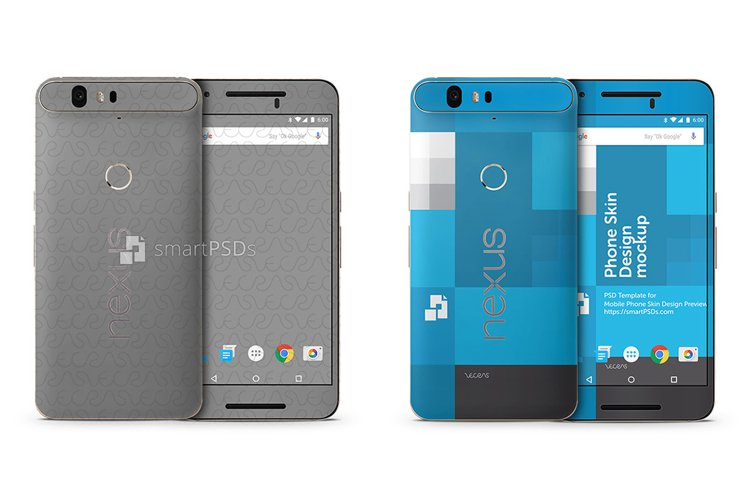 Google Nexus 6P Mobile Skin Design Template 2015 example image 1