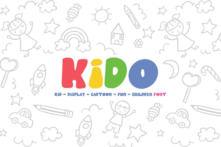 Kido - Fun Children Display Font