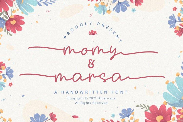 Momy & Marsa - Handwritten Font example image 1