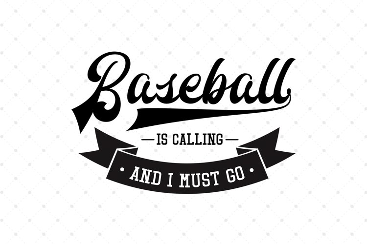 Baseball is Calling and I Must Go SVG Cut Files example image 1