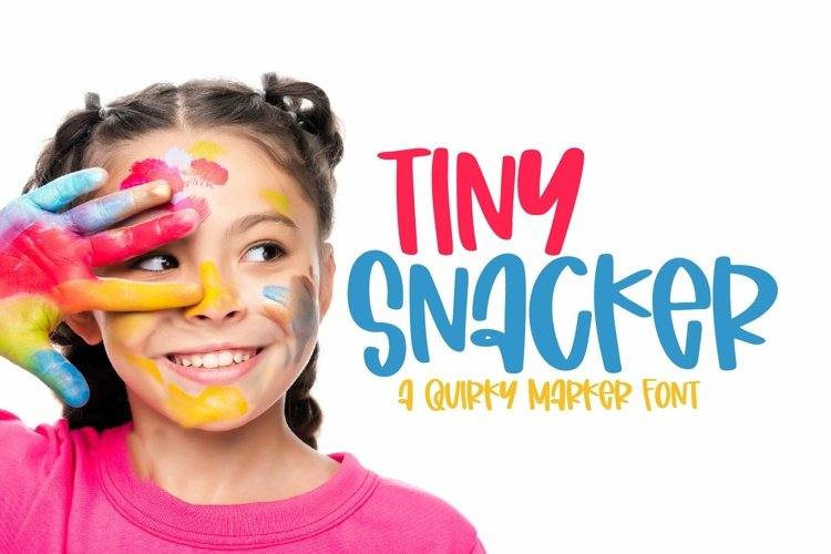 Web Font Tiny Snacker - A Quirky Marker Font example image 1