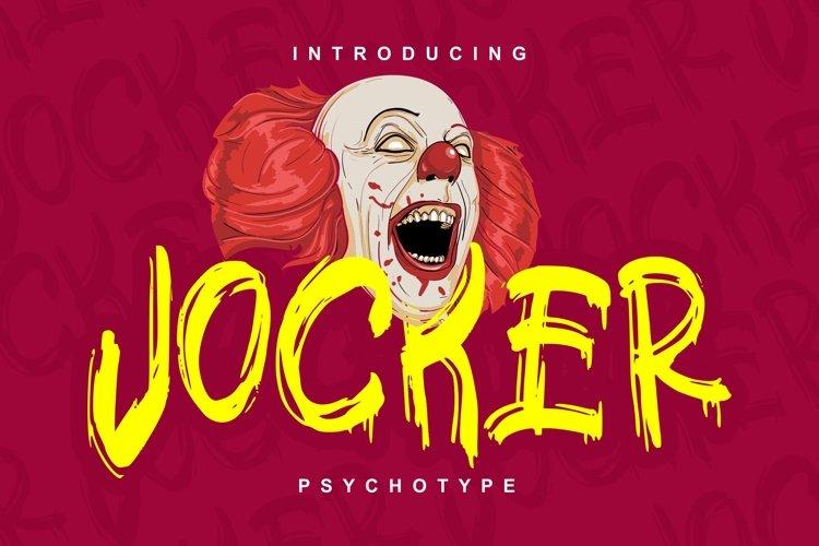 Jocker   Psychotype Font Theme example image 1