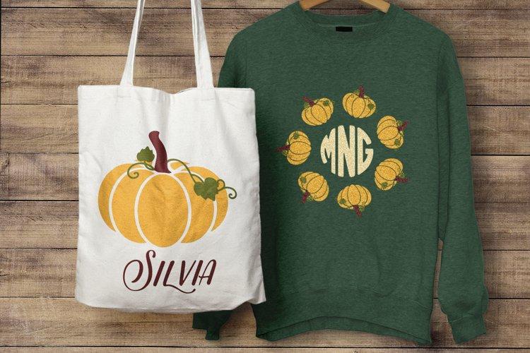 Pumpkin Monogram Frames - Halloween, Thanksgiving SVG example 1
