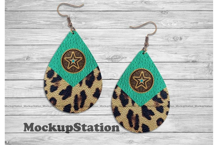 Texas Western Drop Earring Sublimation Design