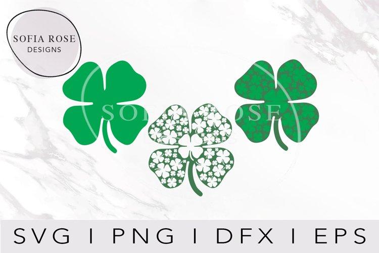 Four Leaf Clover SVG, Layered Shamrock SVG, St. Patricks Day