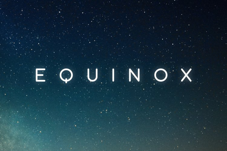 Equinox Typeface example image 1