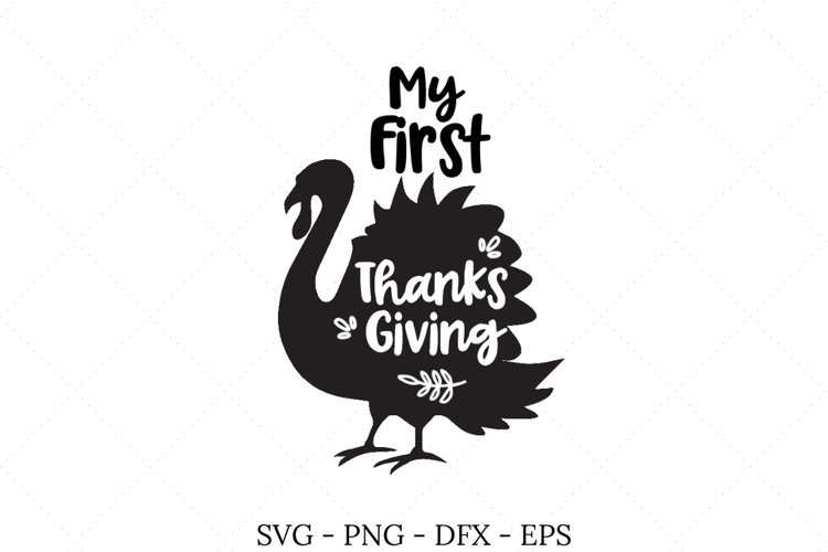 My First Thanksgiving SVG example image 1