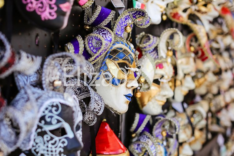 carnival masks in Venice example image 1