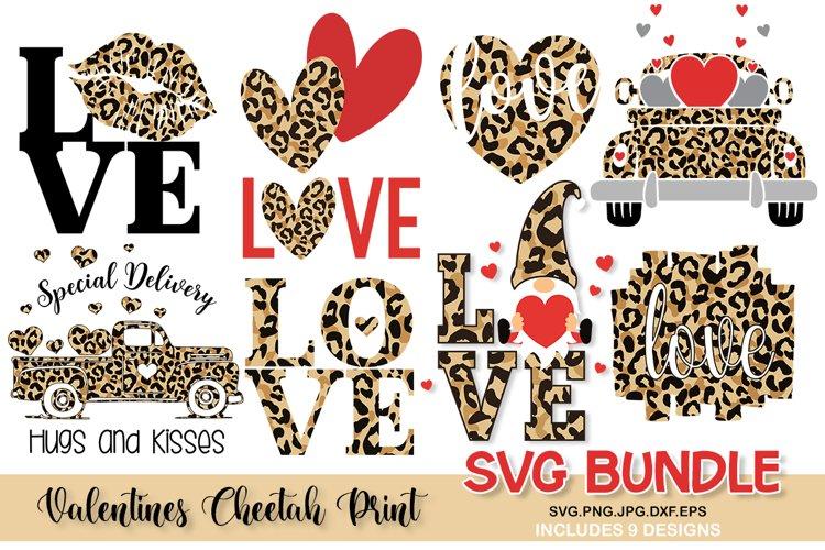 valentines cheetah print svg bundle, valentines bundle svg