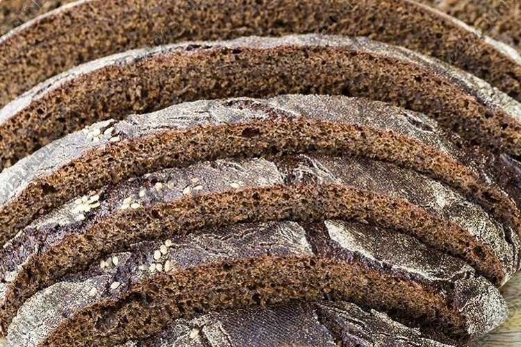 baked dark-colored rye bread example image 1