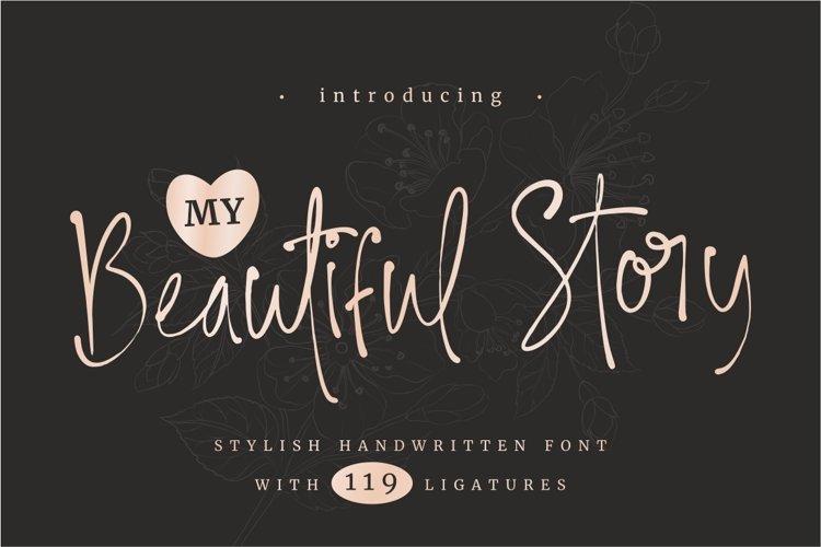 My Beautiful Story - Stylish Font example image 1