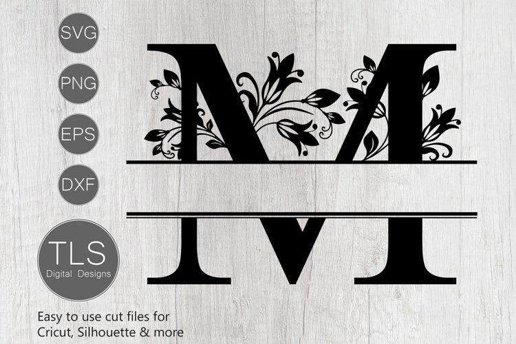 Split Monogram Letter M SVG, Letter M Monogram SVG