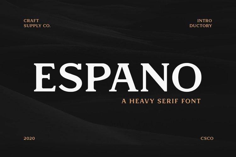 Espano - A Heavy Serif Font example image 1