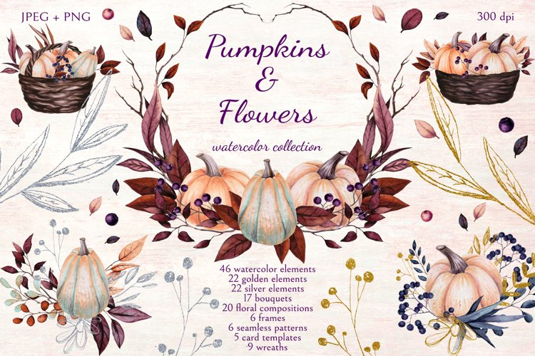 Pumpkins and Flowers example image 1