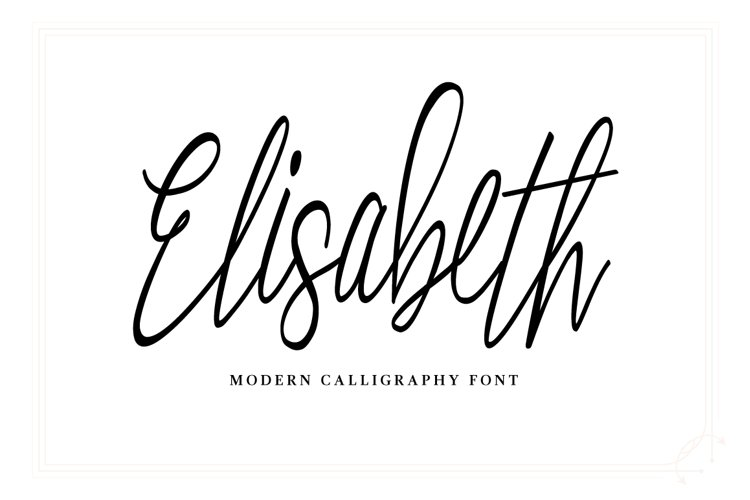 Elisabeth Script Font example image 1