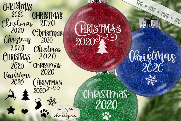 Christmas 2020 SVG | Christmas Icons | Ornament SVG DXF File example image 1