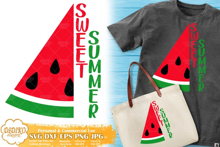Watermelon Svg, Sweet Summer Svg, Summer Quotes Svg Png example image 1