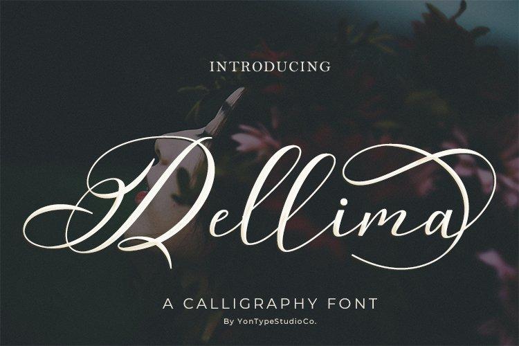 Dellima | Wedding Calligraphy Font example image 1