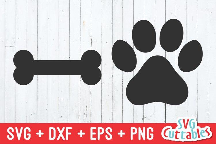 Paw Print SVG   Bone SVG   Dog SVG
