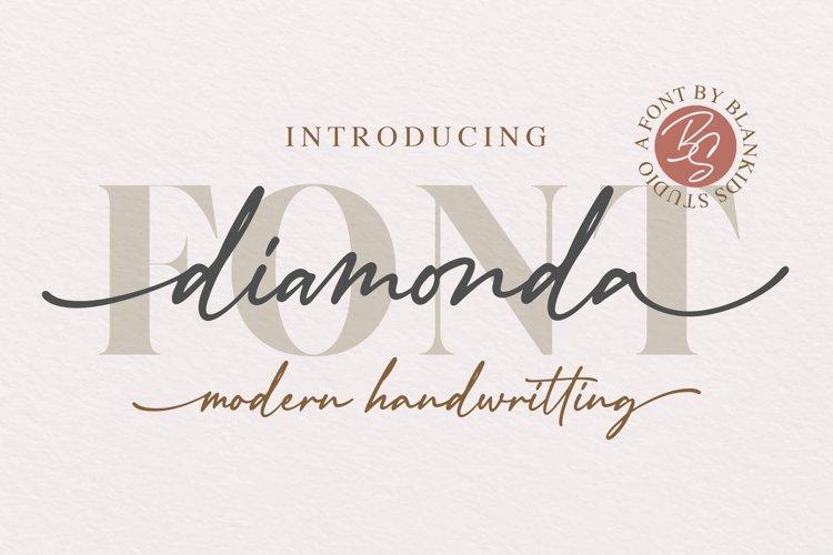 Diamonda Modern Handwritting Font example image 1
