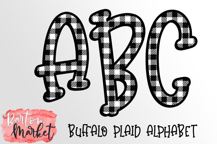Buffalo Plaid Alphabet for Sublimation example image 1